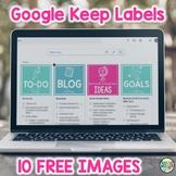 Google Keep Labels FREEBIE
