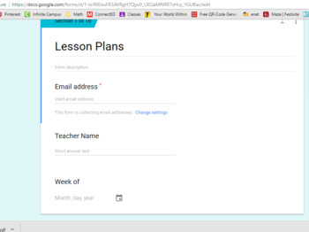 Google Lesson Plan Form