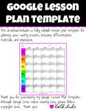 Google Lesson Plan Template