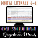 Google Lesson Plan Template with Drop-down Menus {Digital Literacy 6-8}
