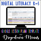 Google Lesson Plan Template with Drop-down Menus {Digital