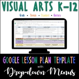 Google Lesson Plan Template with Drop-down Menus {Visual A
