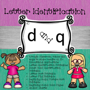 Google Letter Identification Games - Reversal of d and q with Printables