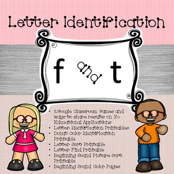 Google Letter Identification Games - Reversal of f and t with Printables