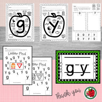 Google Letter Identification Games - Reversal of g and y with Printables