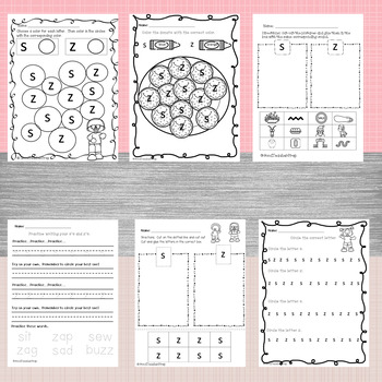 Google Letter Identification Games - Reversal s and z with printables
