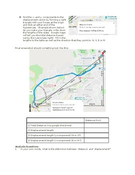 Google Maps Activity: Distinguishing between Distance and Displacement