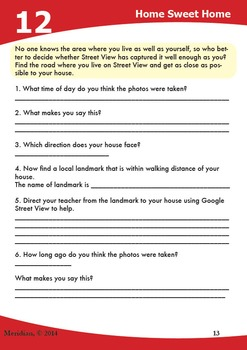 Google Maps Activity Sheets ***UPDATED***