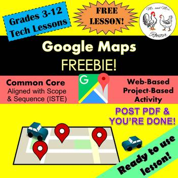 Google Maps FREEBIE Lesson Plan (Unit Preview) - Technology Lesson {Tech}