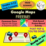 Google Maps FREEBIE Lesson Plan | Unit Preview | Technology Lesson | Tech Lesson