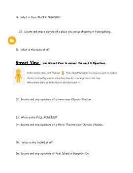 Google Maps-PyeongChang Field Trip