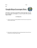 Google Maps Scavenger Hunt (Continent, Country, State, City)