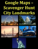 Google Maps Scavenger Hunt Famous City Landmarks of the United States