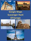 Google Maps Scavenger Hunt-Famous Landmarks of Europe Digital