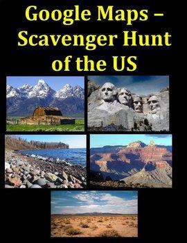 Google Maps Scavenger Hunt-Famous Landmarks of the United States