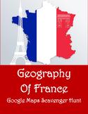 Google Maps Scavenger Hunt Geography of France Digital