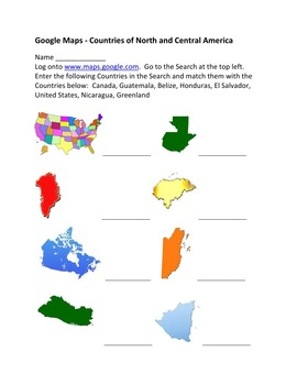 Google Maps – The Countries of North America and Central America