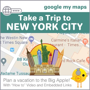 Google Maps Trip to New York City by That Tech Chick | TpT