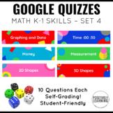 Google Math Assessments for K-1