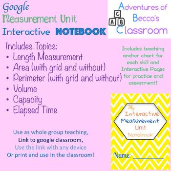 Digital Measurement Unit Interactive Notebook
