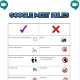 Google Meet Rules