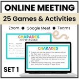 Google Meet & Zoom Activity Slides for Distance Learning