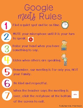 Google Meets Rules by mrs kharm | Teachers Pay Teachers