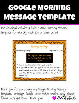 Google Morning Message Template