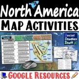 Google   North America Digital Map Practice Activities   USA Canada Mexico