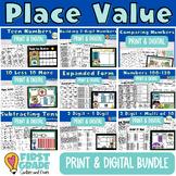 Place Value Digital Bundle Google Slides Seesaw First Grade Base Ten