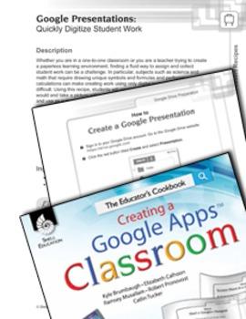 Google Presentations--Quickly Digitize Student Work