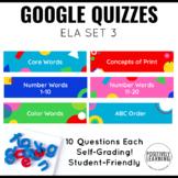 Google Quizzes English Language Arts