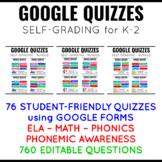 Google Quizzes K-2 BUNDLE