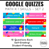Google Quizzes for Math Skills