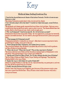 Google Ready Medieval Islam Study Guide