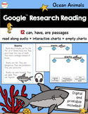 Google™ Research Reading Ocean Animals Printable and Digit
