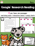 Google™ Research Reading Pets Printable and Digital