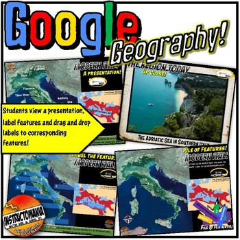 Google Earth Rome Physical Geography Lesson Set, Investigation & Scavenger Hunt