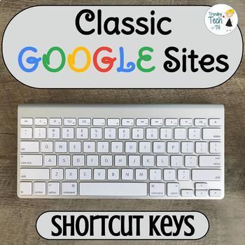 Classic Google Sites Useful Shortcut Keys - Editable!