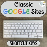 Classic Google Sites Useful Shortcut Keys - Editable!