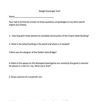 Google Scavenger Hunt
