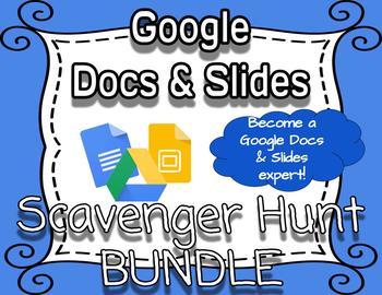 Google Scavenger Hunt & Digital Task Cards Bundle *VIDEO TUTORIALS INCLUDED*