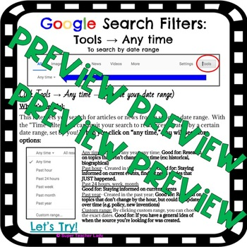 Google Search Practice and Scavenger Hunt