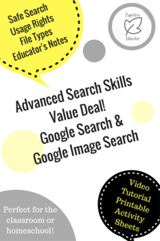 Google Search Skills, Video and Activities, Great for Computer Lab/ Digital Tech