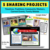 Timelines | Family Traditions | Current Events Templates | for Google Classroom