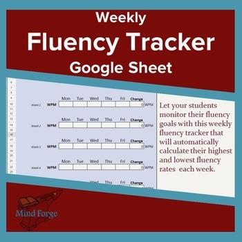 Google Sheet Self-Calculating Fluency Tracker