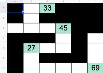 Google Sheets 100's Chart Puzzles
