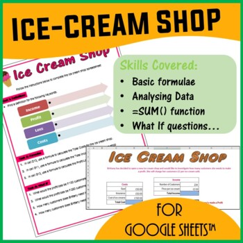 Ice Cream Shop Sales Spreadsheet Activity for Google Sheets™