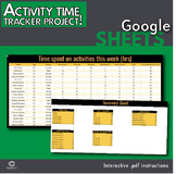 Google Sheets - Activity Time Tracker