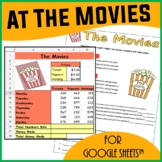 At The Movies Spreadsheets Activity for Google Sheets™
